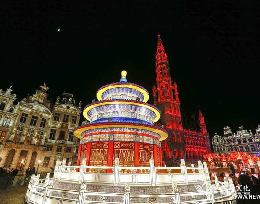 """""""点亮欧洲心脏""""大型元宵灯展亮相比利时首都布鲁塞尔"""